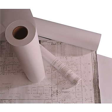 Staples 20 lb. Roll of Wide Format Engineering Copier Bond Paper, 30