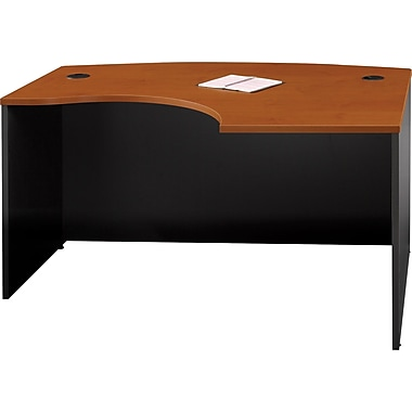 Bush Westfield Left L-Bow Front Desk, Autumn Cherry and Graphite Gray