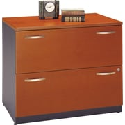 Bush Business Westfield 36W 2Dwr Lateral File, Autumn Cherry/Graphite Gray, Pre-Assembled