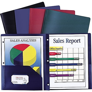 Staples® Poly 2-Pocket Folder w/Prong Fasteners