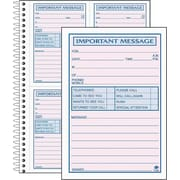 Adams® Telephone Message Book w/Frequently-Called Numbers Space