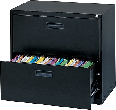 MBI 400 Series 2 Drawer Lateral File, Black,Letter/Legal, 36''W (M302LBLK)