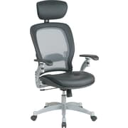Office Star Professional Air Grid-Back Chair with Headrest, Black & Platinum
