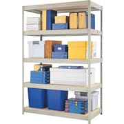 "Hirsh Boltless Steel Shelving, 5 Shelves, Gray, 72""H x 48""W x 24""D"