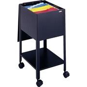 Safco® – Classeur mobile avec cadenas, noir, 19 1/4 po de profondeur, format lettre, 28 haut. x 13 1/2 larg. (po)