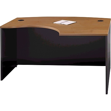 Bush Westfield Right L-Bow Desk, Natural Cherry and Graphite Gray