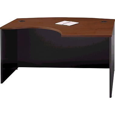 Bush® – Bureau arqué en L de la Collection Westfield, fini cerisier Hansen e