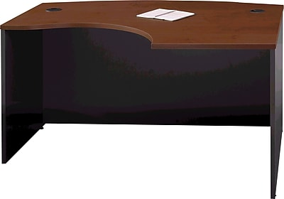 Bush Business Furniture Westfield 60W x 43D Right Handed L Bow Desk, Hansen Cherry, Installed (WC24422FA)