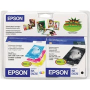 Epson 44 Black and Color C/M/Y Ink Cartridges (T044120-BCD), Combo 4/Pack
