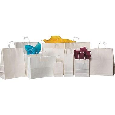 Staples® White Shopping Bags, 10