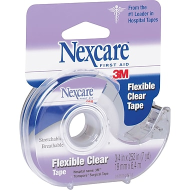 Nexcare™ Flexible Clear First Aid Tape with Dispenser