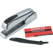 Staples® Desktop Stapler Combo Pack, Chrome, 20-Sheet Capacity