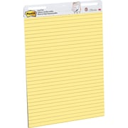 "Post-it® Easel Pad, 25"" x 30"", Faint Blue Ruled, Yellow, 2/PK, (561)"