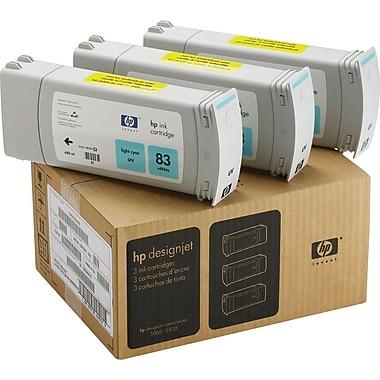 HP 83 Light Cyan UV Ink Cartridges (C5076A), 3/Pack