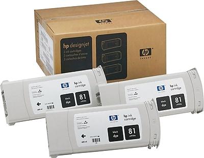 HP 81 Black Ink Cartridges (C5066A), 3/Pack