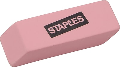 Staples Erasers, Pink, 3/Pack (10433-CC)