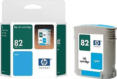 HP 82 Cyan Ink Cartridge (C4911A), 69ml