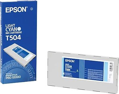 Epson Ink Cartridge, T504 (T504201), Light Cyan