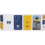 HP 81 680-ml Yellow Dye Ink Cartridge (C4933A)