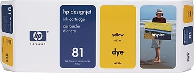HP 81 Yellow Ink Cartridge (C4933A)