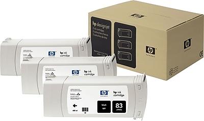 HP 83 Black UV Ink Cartridges (C5072A), 3/Pack