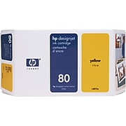 HP 80 Yellow Standard Yield Ink Cartridge (C4848A)