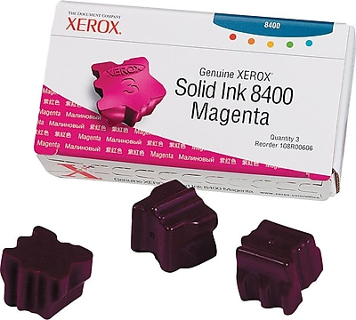 Xerox Phaser 8400 Magenta Solid Ink (108R00606), 3/Pack