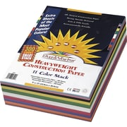 "Pacon® Sunworks™ Heavyweight Construction Paper, Asstorted, 9"" x 12"", 300 Sheets (PAC6525)"