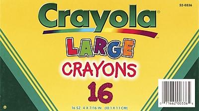 Crayola® BIN52-0336 Crayon, Assorted, 16/Box