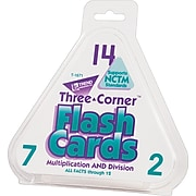 Trend® Three Corner® Math Flash Cards, Multipication & Division  (T1671)