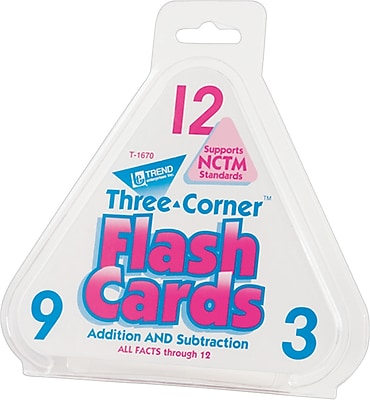 TREND® Three-Corner Flash Cards for Ages 6 And Up, 48/set (T1670)