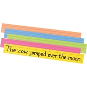 "Sentence Strips, Sturdy Tagboard, 1-1/2"" Ruling, Assorted Colors"