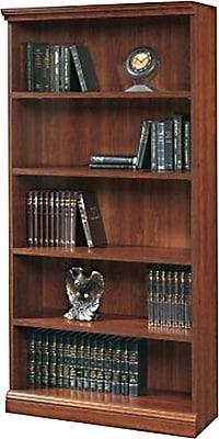 Sauder Premier 36'' 5-Shelf Bookcase, Planked cherry (1785-100)