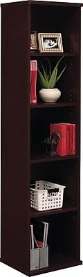 Bush Business Furniture Westfield 18W 5 Shelf Bookcase, Mocha Cherry (WC12912)