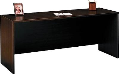 Bush Business Furniture Westfield 72W x 24D Desk/Credenza/Return, Mocha Cherry (XXXWC12926)