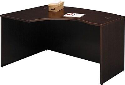 Bush Business Furniture Westfield Elite 60W x 43D Left Hand L Bow Desk Shell, Mocha Cherry (XXXWC12933)