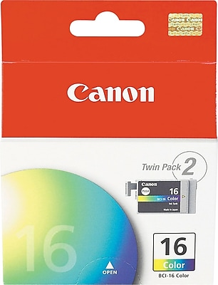 Canon BCI-16C Color Ink Cartridges (9818A003), 2/Pack 597718