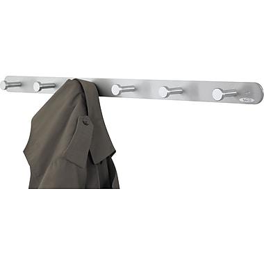 Safco Satin Aluminum Six Nail Head Coat Rack