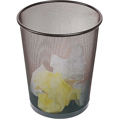 Waste Basket brighton professional™ wire mesh round wastebasket, black, 5 gal