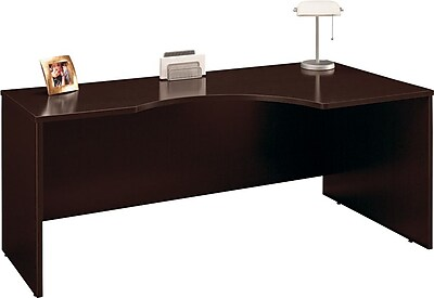 Bush Business Furniture Westfield Elite 72W x 24 to 36D Right Corner Desk Shell, Mocha Cherry (XXXWC12923)