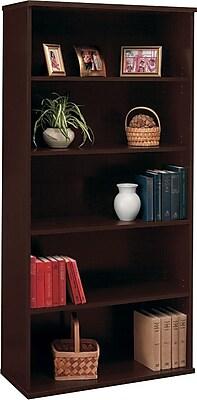 Bush Business Furniture Westfield Elite 36W 5 Shelf Bookcase, Mocha Cherry, Installed (XXXWC12914FA)