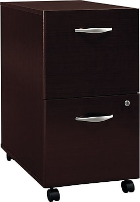 Bush Business Furniture Westfield 2 Drawer Mobile File Cabinet, Mocha Cherry (WC12952)
