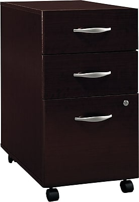 Bush Business Furniture Westfield 3 Drawer Mobile Pedestal, Mocha Cherry (XXXWC12953SUFA)