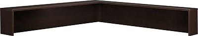 Bush Business Furniture Westfield Elite Reception L Shelf, Mocha Cherry, Installed (XXXWC12976FA)
