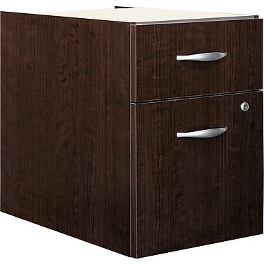 Bush® Business Westfield Elite 2-Drawer 3/4 Pedestal, Mocha Cherry, Installed