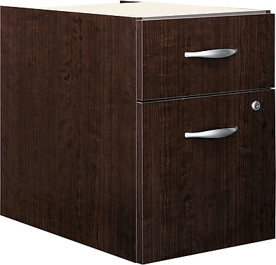 Bush Business Furniture Westfield 2 Drawer 3/4 Pedestal, Mocha Cherry (XXXWC12990)