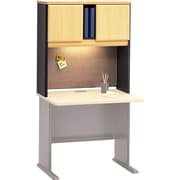 Bush Business Cubix 36W Hutch, Euro Beech/Slate