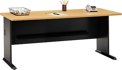 Bush Business Cubix 72W Desk, Euro Beech/Slate, Installed