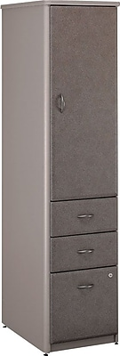 Bush Business Cubix Vertical Locker, Pewter/White Spectrum