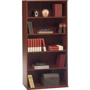 Bush Business Westfield 36W 5 Shelf Bookcase, Hansen Cherry/Graphite Gray